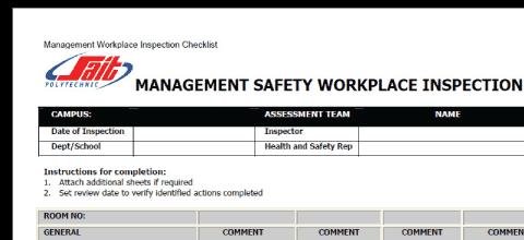 Safety Risk Assessment Checklist, Blog Feature