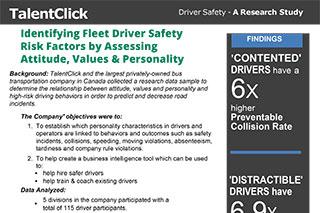 high risk driver behavior safety incident