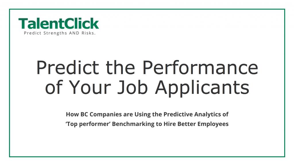 predict performance job applicant